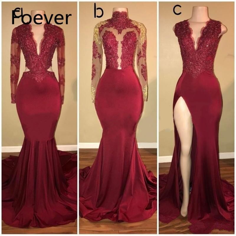 Aso Ebi Style sirène africaine robes de bal longues 3/4 manches Nigeria femmes robes formelles grande taille Chic robe de soirée Abendkleider