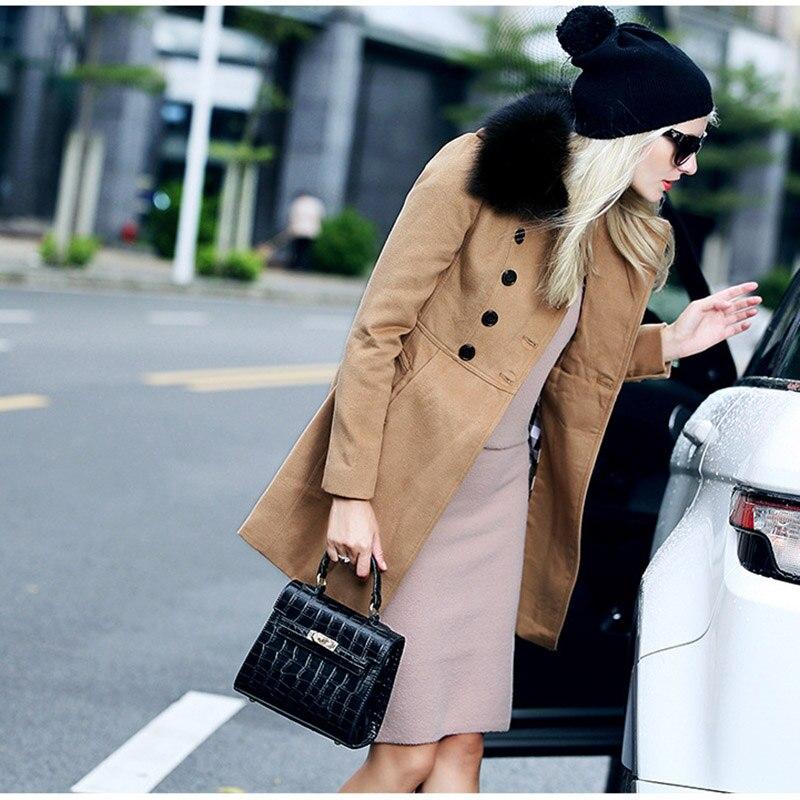D'hiver Khaki Manches black De Automne Color 2017 Cachemire Manteau Nouvelles Hiver Pur Mode Femelle Laine Femmes Longues 6wCxqTvxE