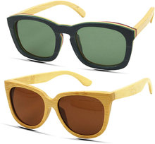 G M De Bambú Marco de madera Gafas de Sol Lentes Polarizadas Hombres Mujeres gafas de Sol gafas de sol