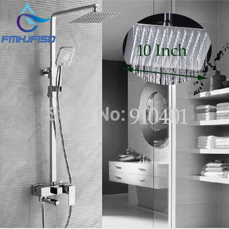 Wholesale And Retail Promotion Chrome Brass 10 Rain Shower Head Faucet Tub Spout Mixer Tap Hand Sprayer Shower Column as907a electrical resistivity measuring instruments with voltage range 500v 1000v 2500v