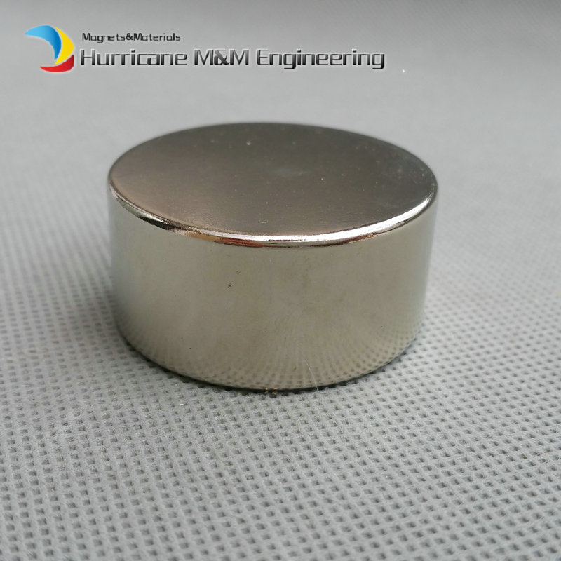 NdFeB Disc Magnet Dia. 40x20 mm thick 60.7kg pulling Neodymium Permanent Magnets Grade N42 NiCuNi Plated Axially Magnetized n52 ndfeb magnet disc dia40x10 mm 1 57 20 kg pulling super strong magnet neodymium permanent rare earth magnets nicuni