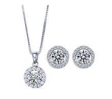 Lovely Circle Earrings and Pendant Set