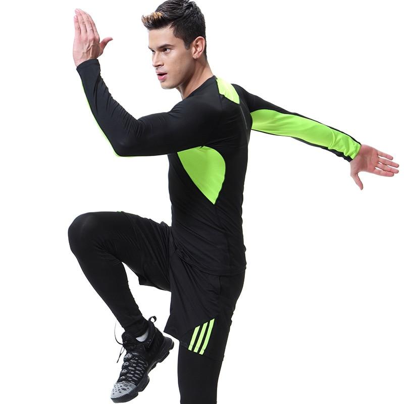 3pcs Men Tracksuit Sportswear Elastic Leggings Tights Sweatshirts+pant+shorts Running Jogging Leisure Fitness Gym Set Sweatsuits