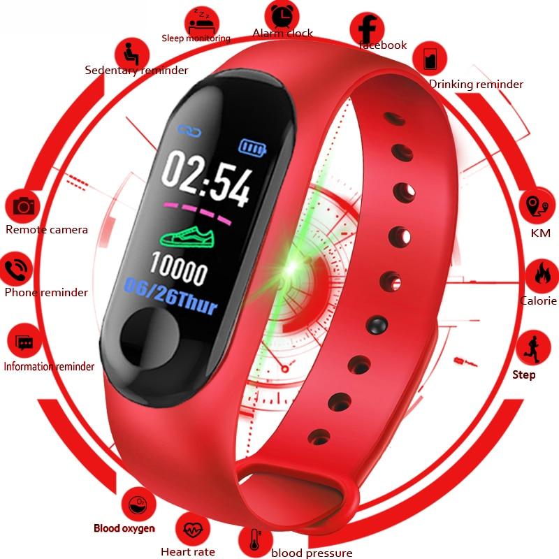 New M3 Smart Watch Men Women Heart Rate Monitor Blood Pressure Fitness Tracker Smartwatch Sport Watch