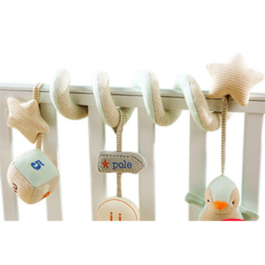 Baby Soft Rattles Spiral Toy On The Bed Bell Soft Cubes For Kids 0-12 Months Teethers Plush Juguete Cuna Toys For Tots 705795 newborn baby bed rotary music bell toy baby stroller toy rattles accessories pendant