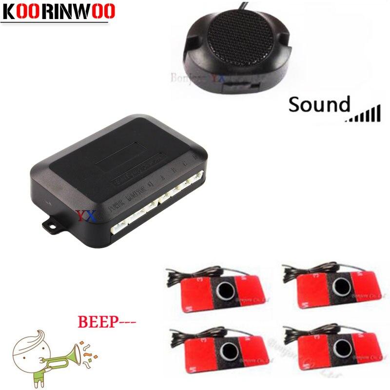 Car Auto Reverse Reversing 4 Parking Sensors Radars Beeper//Buzzer System Kit RO