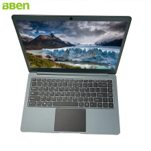 Bben FHD laptop computers windows10 with Intel celeron N3450 Apollo Lake quad cores cpu 4G RAM 64GB EMMC +128GB M.2 SSD