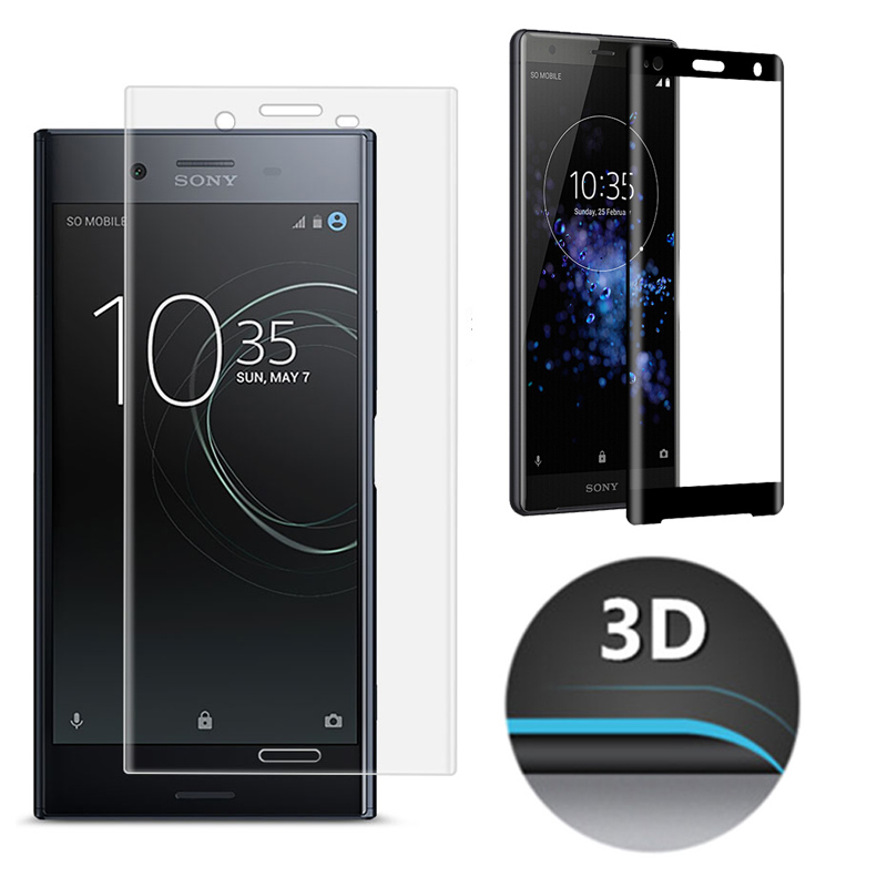 3D Full Coverage Tempered Glass For Sony Xperia XZ3 XZ2 XZ1 XZ XA2 XA1 XA X Premium Compact Screen Protector Protective Film