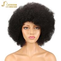 Joedir Afro Kinky Curly Wig Remy Human Hair Wigs For Women Brazilian Short Wig 99J 2# Color Free Shipping