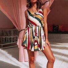 CUERLY Spaghetti strap women dress multi-color ruffled sexy summer Elastic waist sash satin Party beach sundress