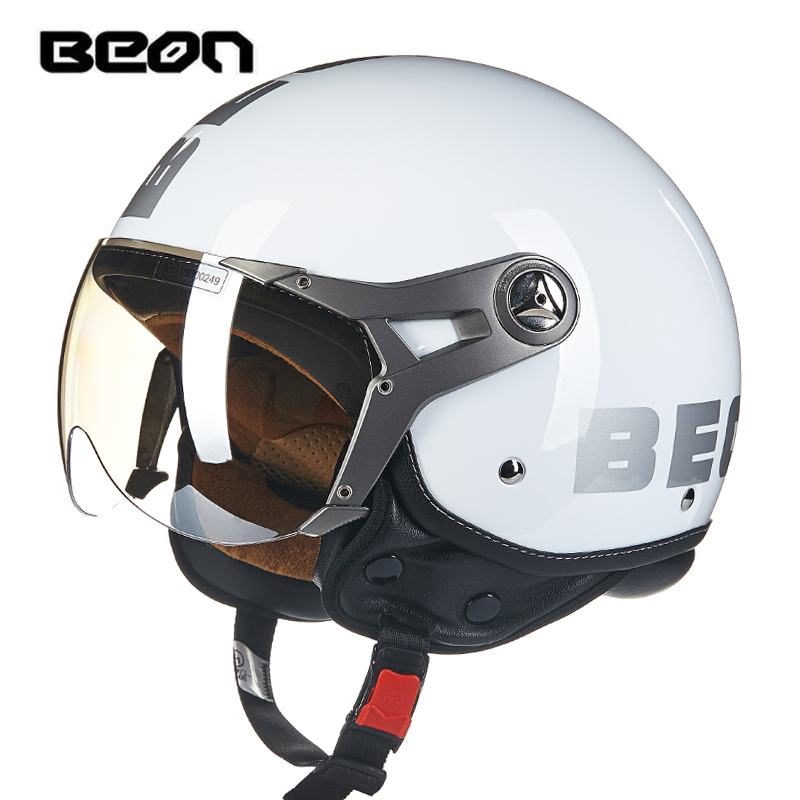 hot sale BEON motorcycle helmet vintage mens womens moto capacete half face helmet ECE Approved B100-in Helmets from Automobiles & Motorcycles    3