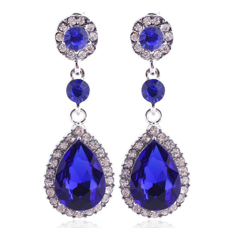 Dangle Earrings: Vintage Drop Earrings Water Crystal Earings Fashion Long Earrings For Women 2016 Gift Red Dangle Earring Trendy Brincos Jewelry