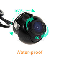 Waterproof Mini Wide Angle HD CCD Normal Image Car Front Rear View Camera With Mirror Image