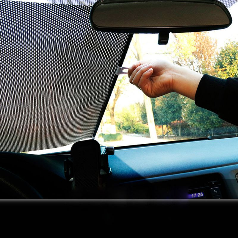 Sun Roller Blinds Car Sun Visor Harmful UV Rays and Glare Heat Protection for Kids Pets 2 Pack Car Window Shades Roller 40*60cm Retractable Sun Shade