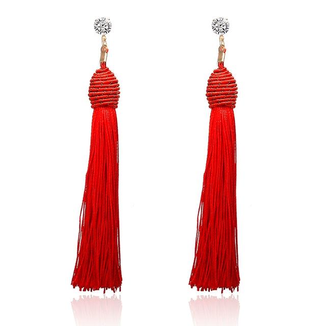 Hot Long Dangle Earrings Tassel Women Fashion Statement Earrings Crystal Earrings Bohemian Vintage Earrings  for Gifts e0121