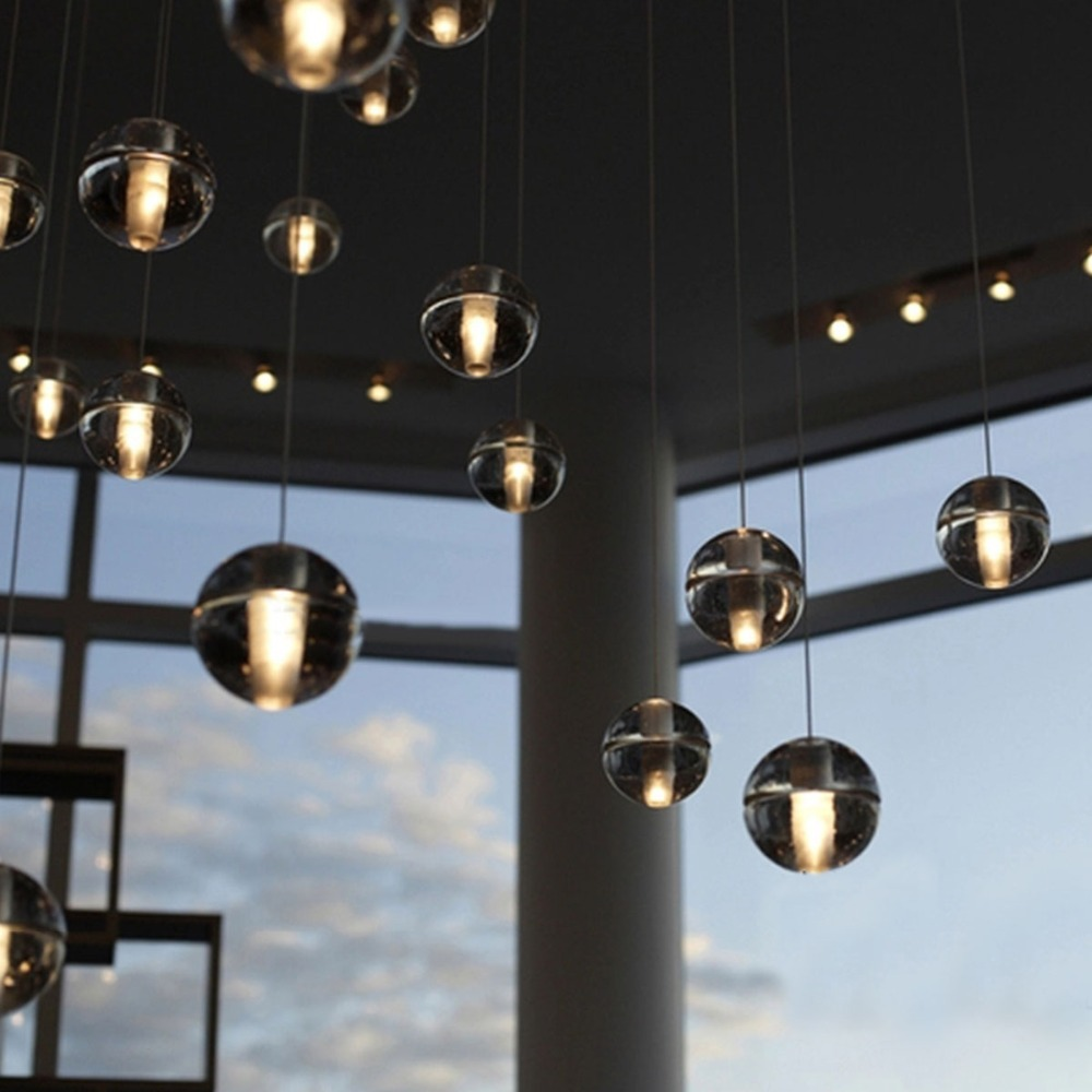 Hot selling magic k9 crystal ball g4 pendant light glass led hot selling magic k9 crystal ball g4 pendant light glass led single head fashion lighting fixture for dining hallbar decoration in pendant lights from arubaitofo Gallery