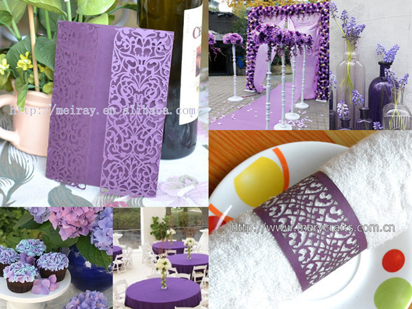 Lavender Wedding,purple Wedding Decorations,purple Wedding Cards,purple  Favor Boxes And Wrappers