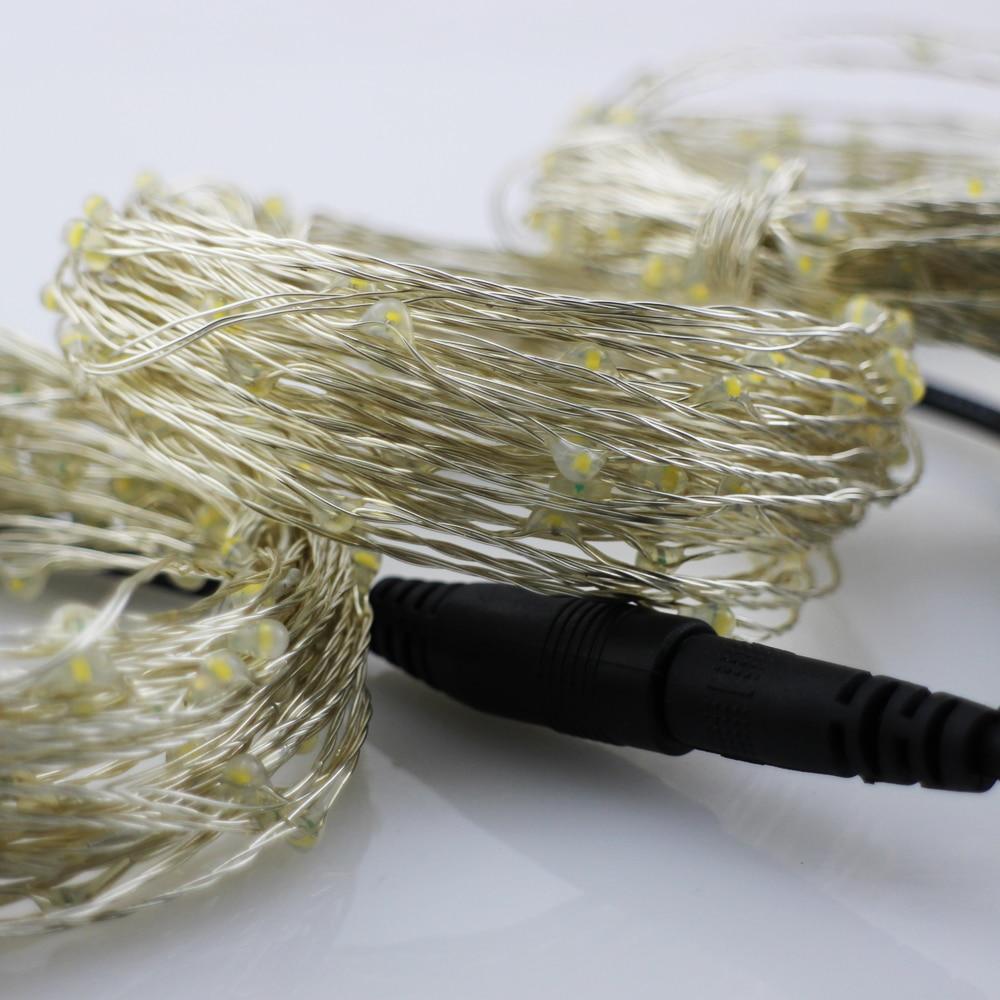 3 * 33Ft 100 LED-tilkoblingsbar utendørs julestjernelys kobbertråd - Ferie belysning - Bilde 5