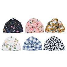 Fashion Baby Hat Solid Turban Kids Girls Sun Elastic Caps 6 style Cap Bow Tie Infant Accessories