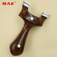 New Slingshot with Titanium Steel Patch and Flat Rubber Band for Outdoor Recurve Bow Hunting Shooting Games