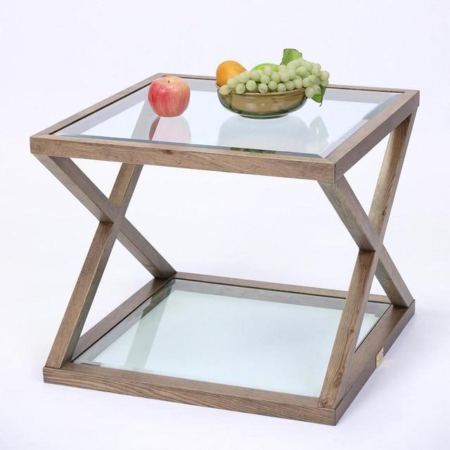 Creative glass coffee pequeño apartamento minimalista moderno marco ...