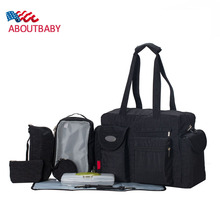 New Multi-piece Sets Baby Diaper Bag Large Capacity Multifunctional Maternal Bag High Quality Baby Stroller Bag Messenger Bags