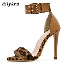 Eilyken de moda de las mujeres sandalias de verano Leopardo de tacón con  Puntera abierta hebilla Correa bombas boda zapatos de f. a39989e6091e