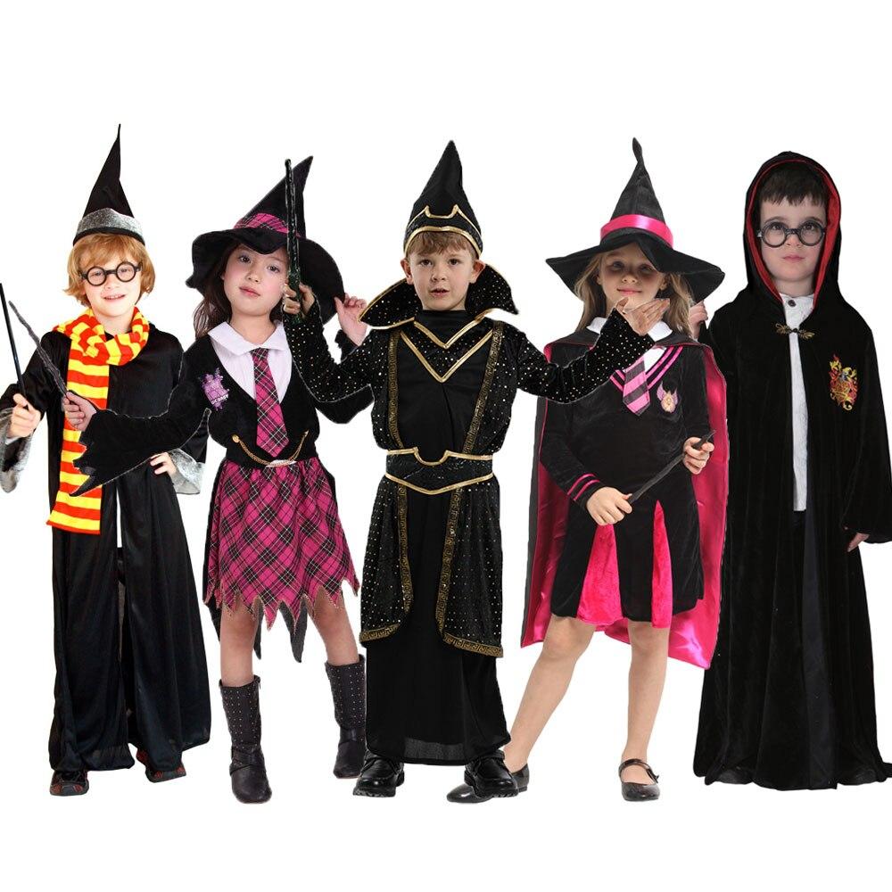 Umorden Kids Children Wizard Magician Costume for Boys Girls Children's Day Halloween Costumes Robe Dress