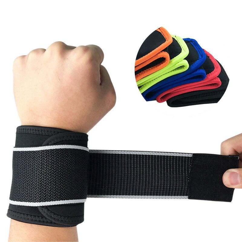 1PC Hand Wrist Support Brace Strap Adjustable Training Exercise Compression Wristband Wraps Bandage Arthritis