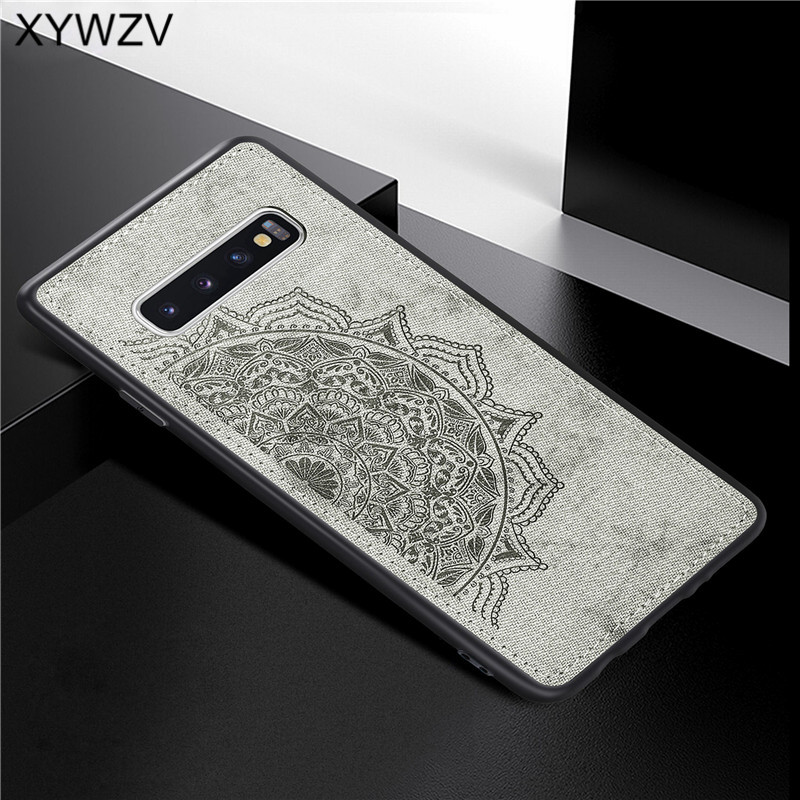 Image 4 - For Samsung Galaxy S10 Plus Case Soft TPU Silicone Cloth Texture Hard PC Case For Samsung S10 Plus Cover For Samsung S10 Plus-in Fitted Cases from Cellphones & Telecommunications