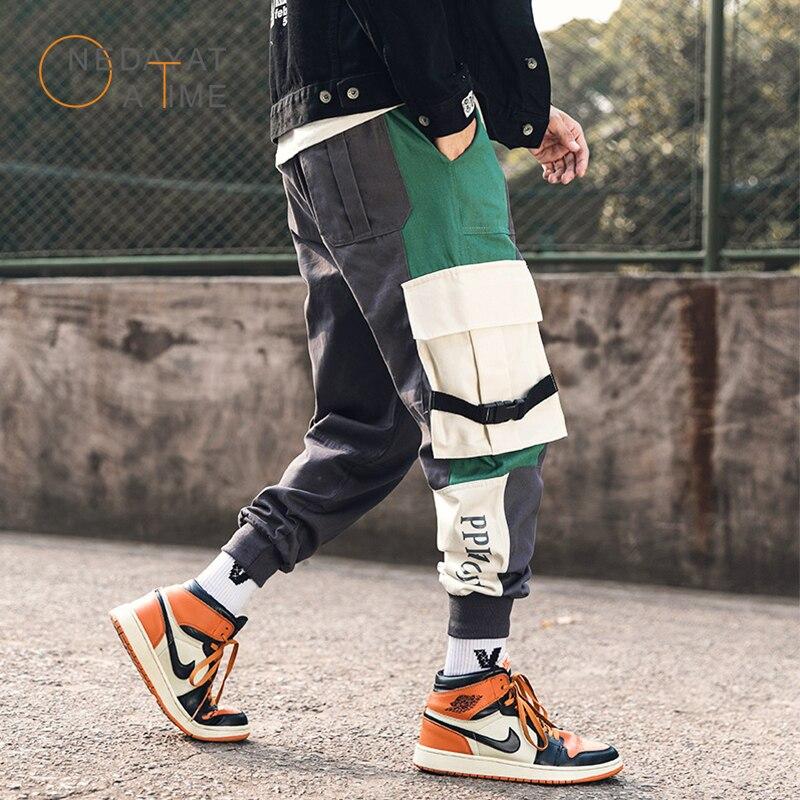 Мужские брюки карго на шнурке, модные прямые брюки карго, повседневные свободные штаны для бега в стиле хип хоп