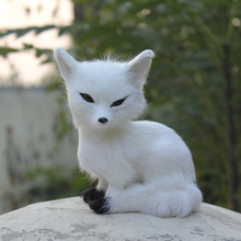 China Toy Animal Factory Wholesale Artificial Handmade White Toy Fox