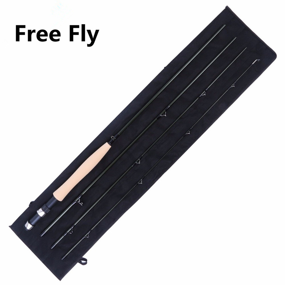 ФОТО Maximumcatch New Free Fly 5WT 4Pieces 9ft Medium-fast Fly Fishing Rod Carbon Fiber Fly Rod