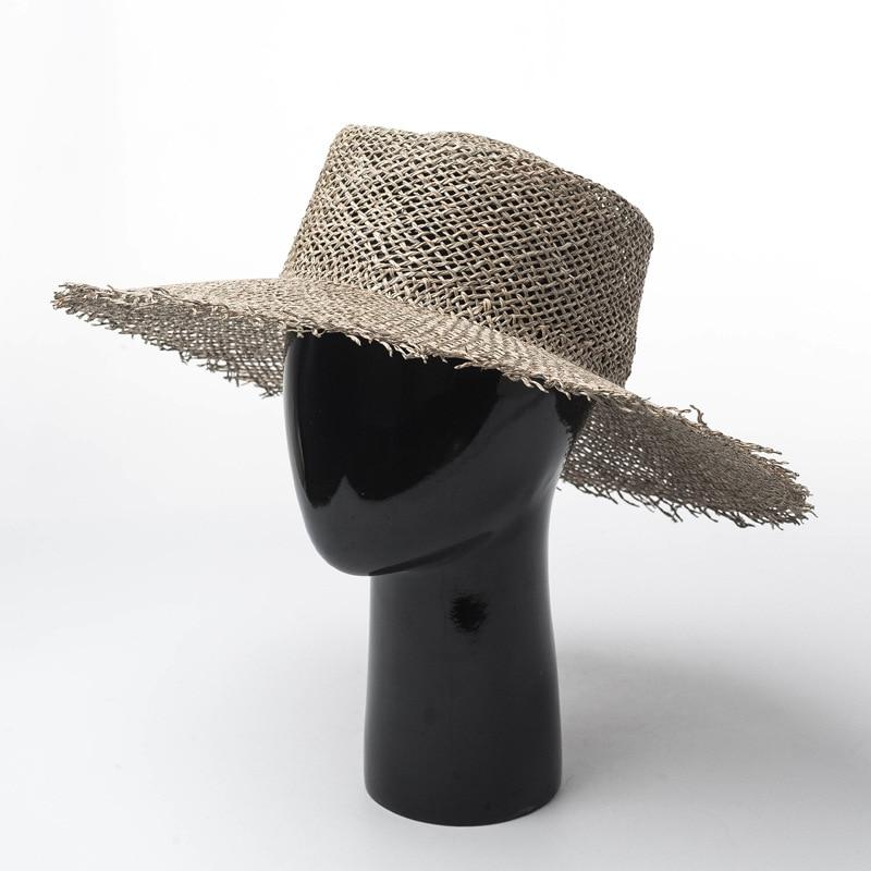 Nouveau printemps et été Européen et Américain laineux d'algues chapeau de paille dame en plein air voyage abat-jour Crème Solaire chapeau de paille de Plage