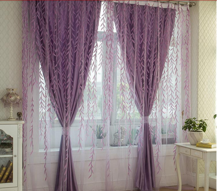 Living Room European Style Curtains Fl Girls