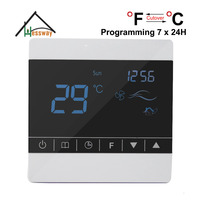 7 24H Programmable Adjustable Thermostat Temperature Control Switch With Child Lock