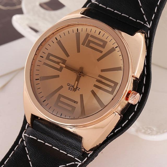 da5f6dedeac Ldaies Barato por atacado Relógios Das Mulheres dos homens Casual Couro Quartz  relógio de pulso Vestido Relógio relogios feminino modas montre reloj