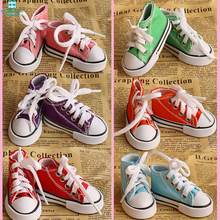 купить 2016 new Free Shipping Assorted Colors 7.5cm Canvas Shoes For BJD Doll Toy,1/3 Mini Doll Shoes for BJD Accessories онлайн