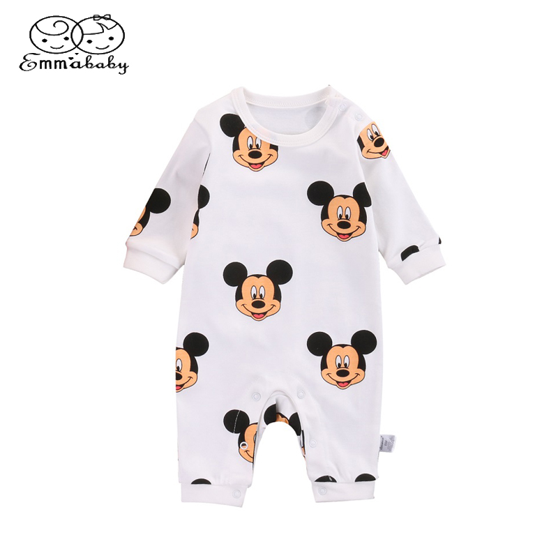 Bodysuits & One-pieces Lovely Toddler Kids Baby Boys Mickey Letters Romper Jumpsuit Playsuit Outfits Clothes