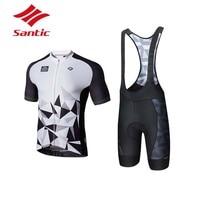 Santic Велоспорт Комплект Одежда для мужчин лето Pro мягкий дышащий Велоспорт Джерси комплект костюм велосипед триатлон Ropa Ciclismo