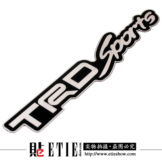 Car Styling Sport Car Sticker And Decal Trd Sports Car Logo Metal