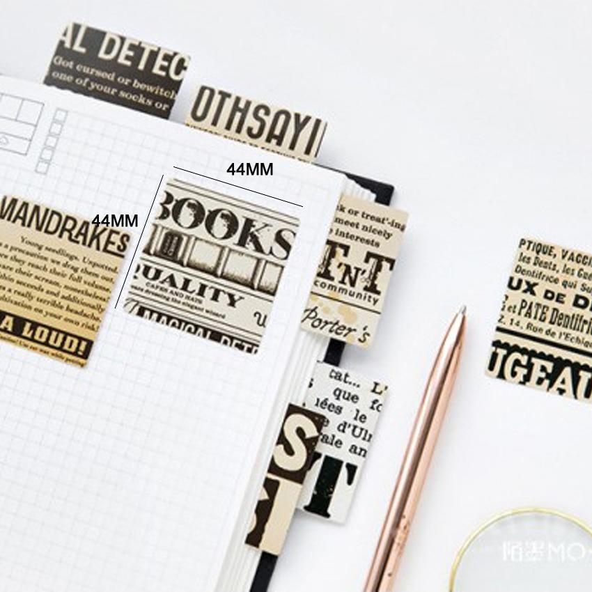 Купить с кэшбэком 45pcs/box New Nostalgic Newspaper Pocket Label Stickers Diary Decoration Mini DIY Sticker Stationery