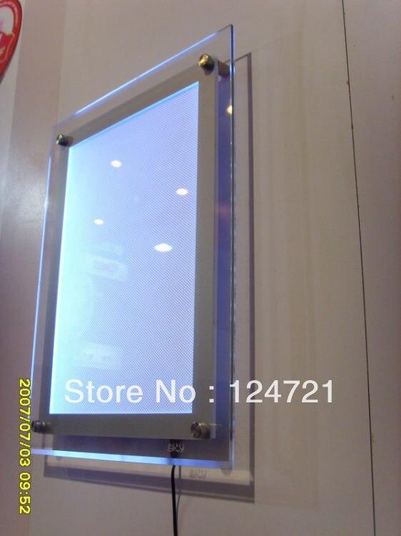 Рамки меньше Кристалл светодиодный волшебное зеркало photo Рамки/LED Лайтбокс Акриловые Настенные реклама