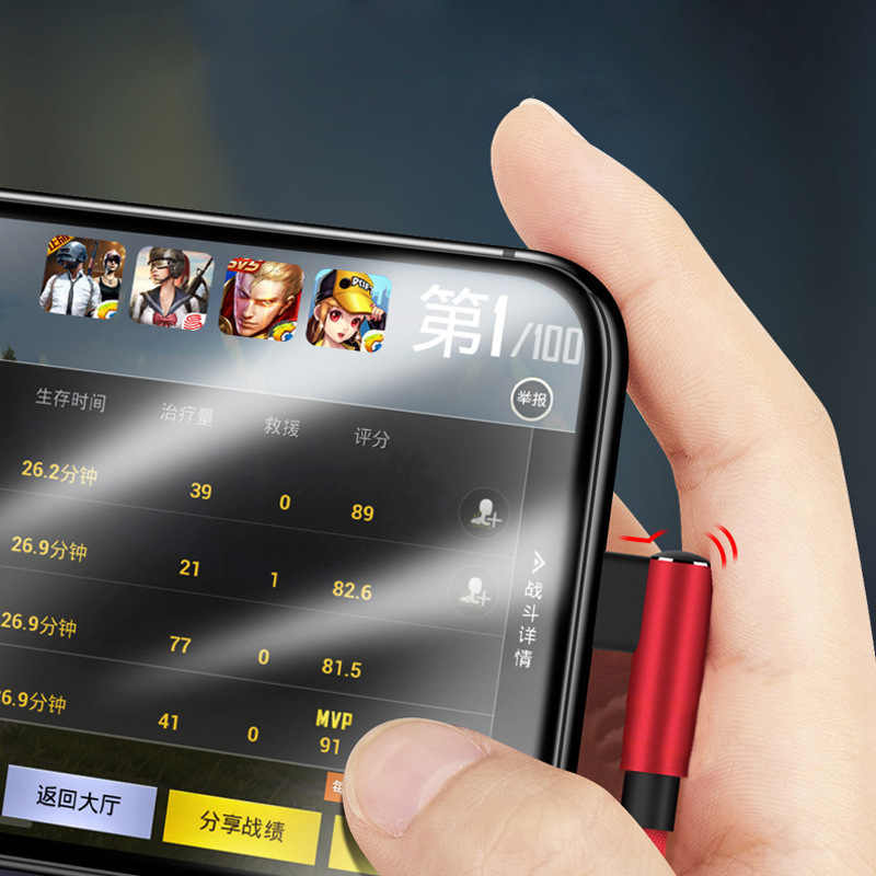 90 gradi USB Veloce Cavo di Ricarica Per iPhone 5 6 6 s 7 8 Per iPad Tipo C Micro USB cavo del caricatore L Tipo di Cavo di Dati Del Telefono Mobile