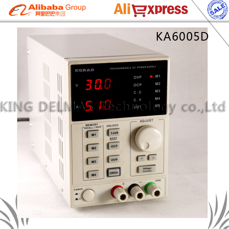 KORAD KA6005D High Precision The Lab programmable Adjustable Digital Regulated power supply DC Power Supply 60V/5A 220V it6720 programmable dc power supply 60v 5a lab grade