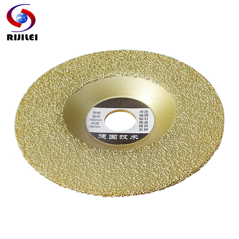 цена на RIJILEI 110*16*1.8 Brazing Diamonds grinding disc Thickening Silicon carbide grinding wheel ceramic grinding disc MX38