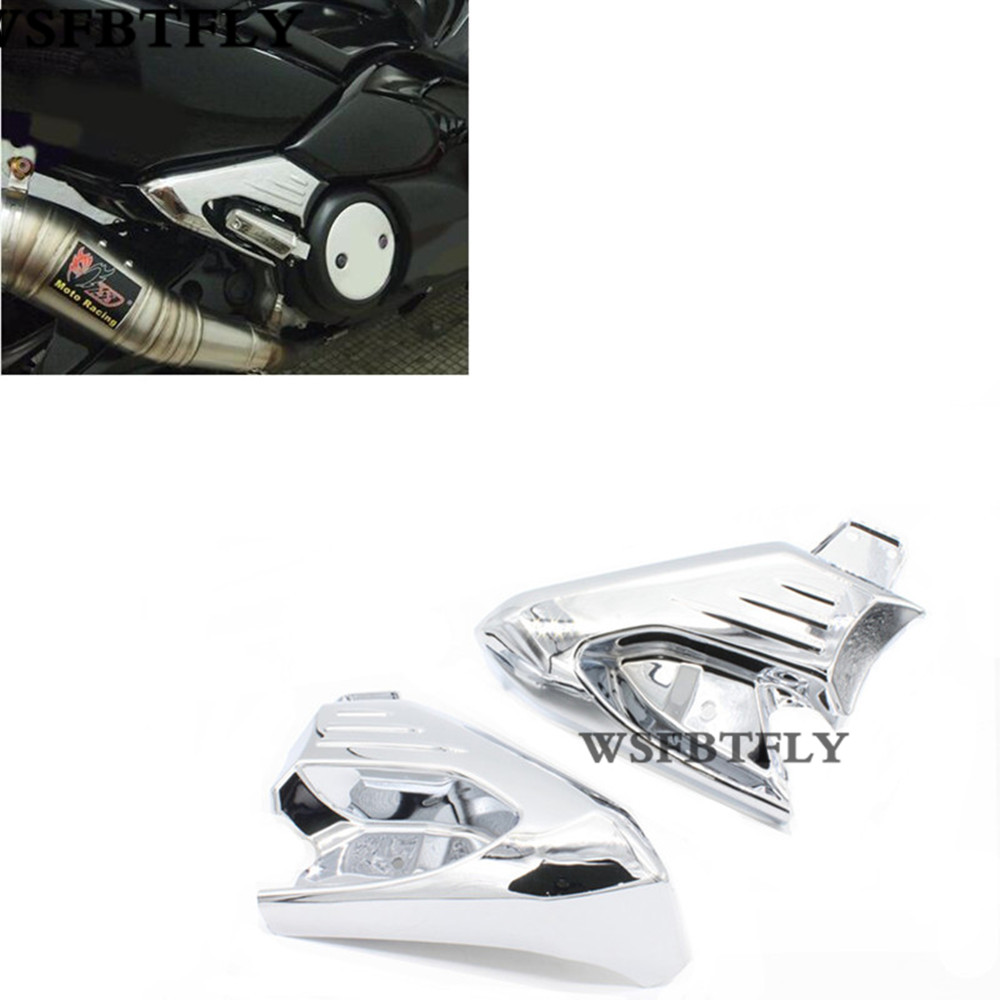 Hot Sale Chrome Motorcycle Rear Foot Rest Foot Pegs Protector Cover Guard For Yamaha TMAX500 TMAX 500 2008-2013 09 10 11 12 hot sale antenna guard protection cover for eachine qx90 qx95 fpv camera
