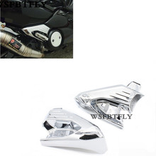 цена на Hot Sale Chrome Motorcycle Rear Foot Rest Foot Pegs Protector Cover Guard For Yamaha TMAX500 TMAX 500 2008-2013 09 10 11 12