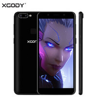 XGODY New 5.72 Inch 18:9 Face ID Mobile Phone Android 5.1 MT6580 Quad Core 1G+8G 4 Cameras 3G Unlock Dual Sim Smartphone 2100mAh