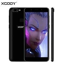 Xgody Новый 5.72 дюймов 18:9 Уход за кожей лица идентификатор мобильного телефона Android 5.1 mt6580 4 ядра 1 г + 8 г 4 камеры 3G разблокировать смартфон с двумя sim-картами 2100 мАч